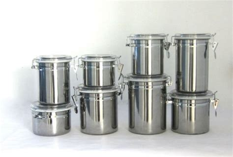 stainless steel kitchen canisters kitchen canisters stainless steel designcorner