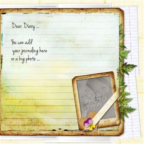 digital scrapbooking kits my diary template 1 aniaw