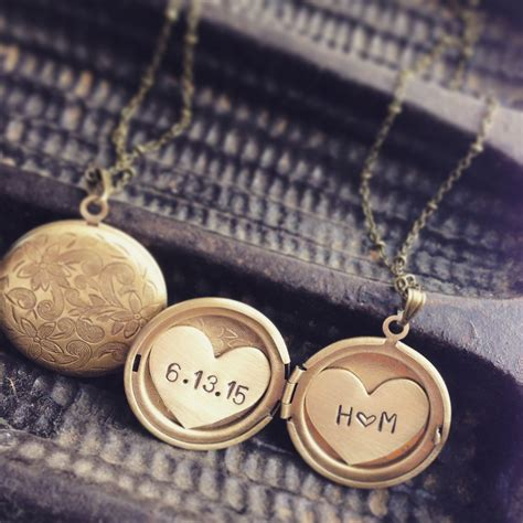 how to make engraved jewelry buy a made initials and date locket necklace