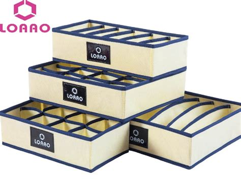 Diy Clothing Storage loaao home storage box bins underwear organizer box bra