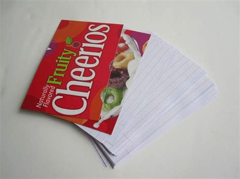cereal box crafts for cereal box crafts notepads infarrantly creative