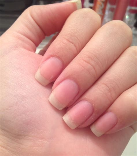 with acrylic nails