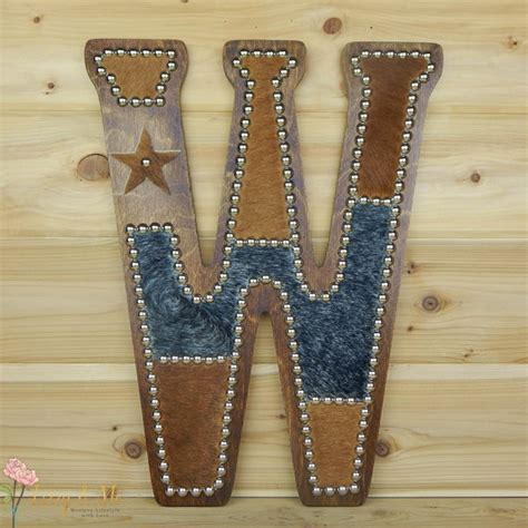 cowhide home decor cowhide wall letter w western home decor wall hanging