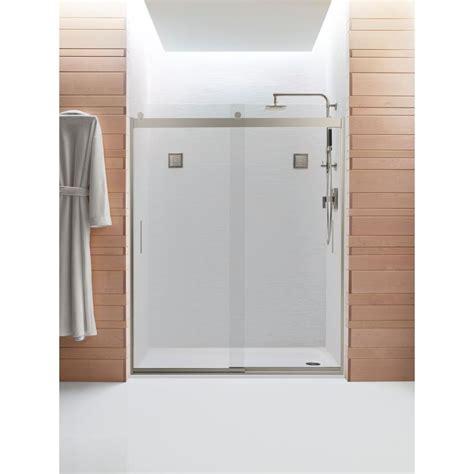 kohler sliding shower doors kohler levity 59 5 8 in x 74 in semi frameless sliding