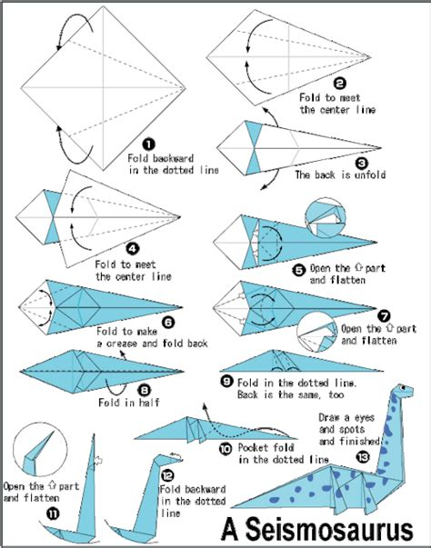 how to make origami dinosaur origami