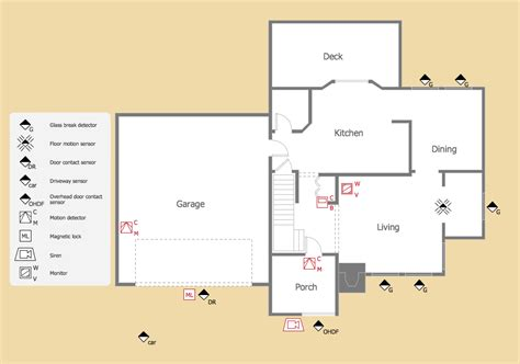 security floor plan free business floor plan template