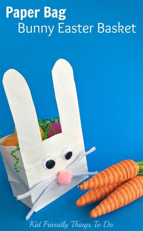 paper bag bunny craft paper bag bunny easter basket craft for kid