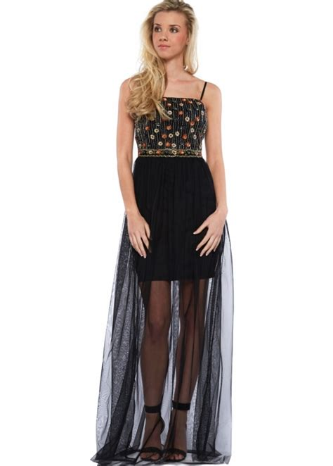 beaded bodice maxi dress goddess black mesh maxi dress with beaded bodice