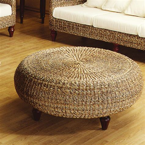 rattan coffee table ottoman furniture interior traditional coffee table