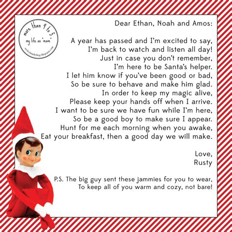 elf on the shelf goodbye letter template more than 9 to 5 my life as quot mom quot the elf
