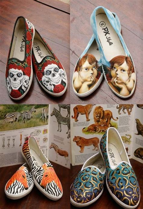 acrylic paint on canvas shoe 1000 images about crafts altered shoes diy on