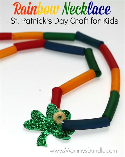 st s day crafts for diy rainbow necklace for st s day s bundle