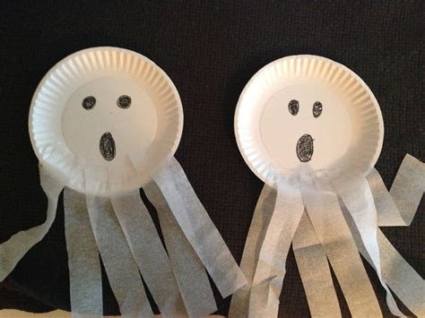 paper plate ghost craft ghost paper plate craft