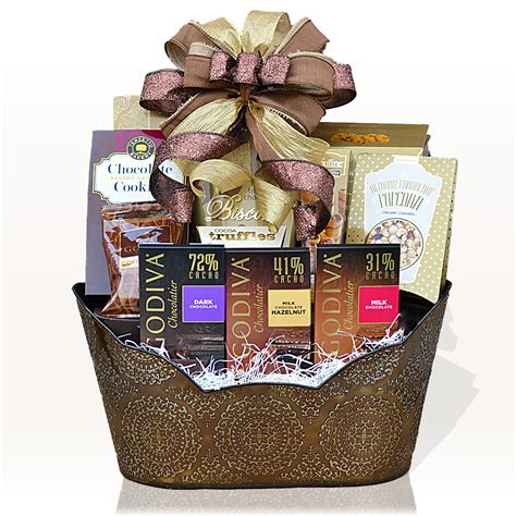 for gifts godiva chocolate indulgence gift basket gifts