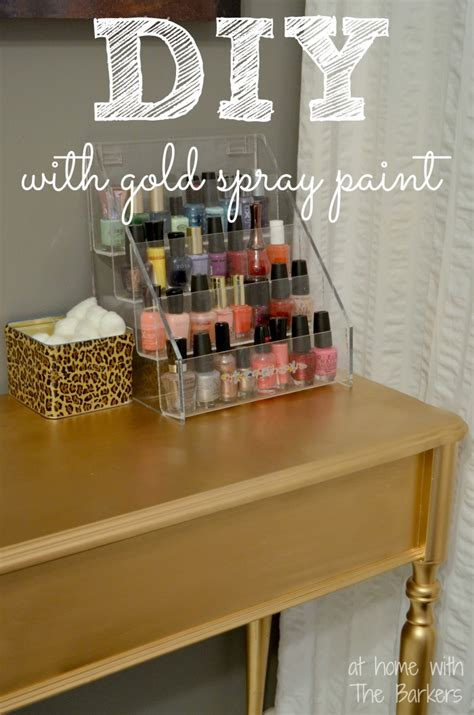 spray painter diy diy gold painted table