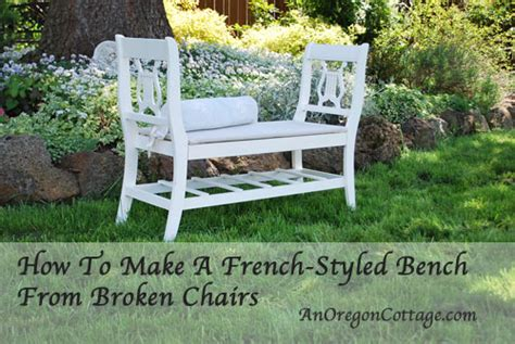 Ballard Designs Dining Chairs how to make a french styled bench from old chairs