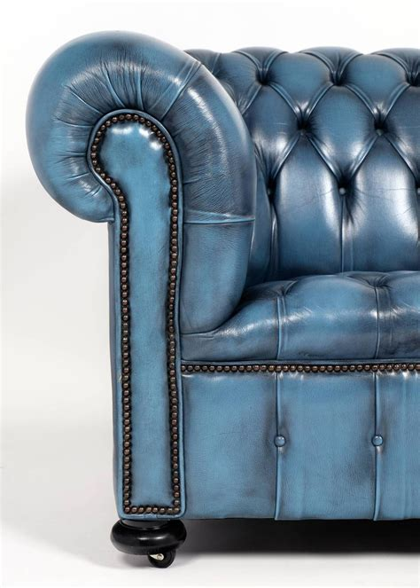 blue leather chesterfield sofa blue leather chesterfield sofa blue leather chesterfield