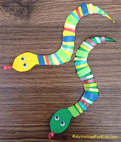snake crafts for ribbon snake craft for