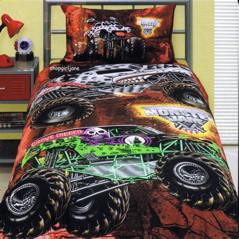 jam comforter set jam trucks grave digger mutt maximum d