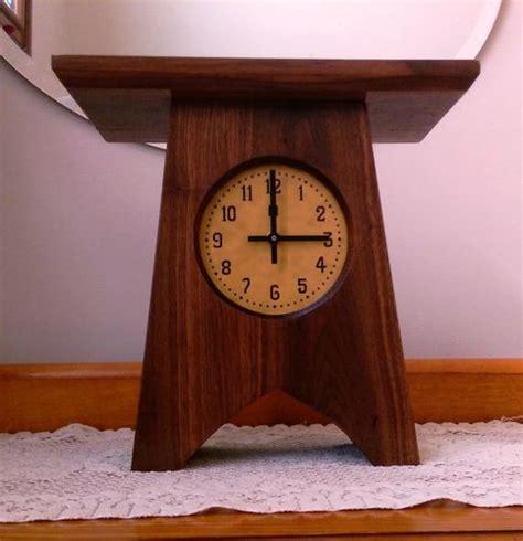 small clocks for craft projects small arts and craft clock by alongiron lumberjocks