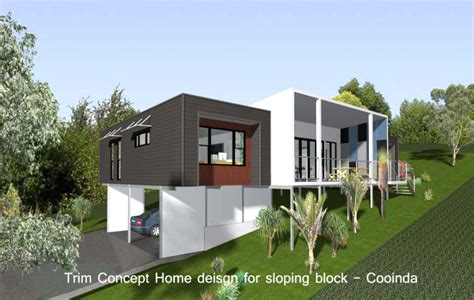 sloping block house plans pole home designs sloping block modern house