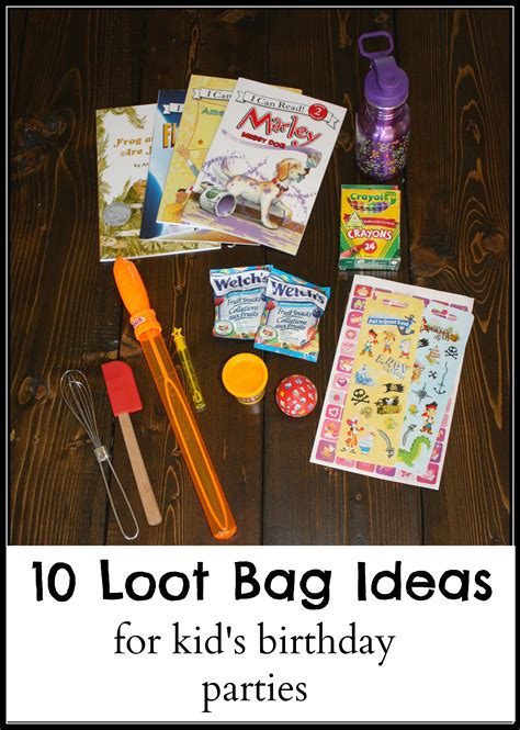 for ideas 10 loot bag ideas for kid s birthday the write