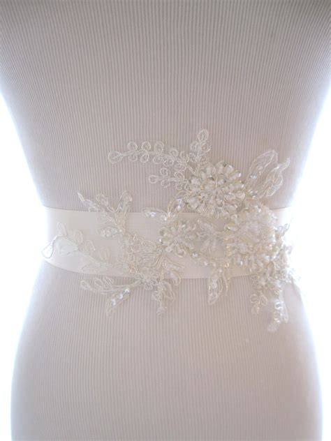 beaded wedding sash lovely beaded lace bridal sash wedding belt wedding sash