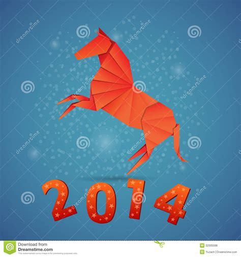 new years origami new year origami paper 2014 royalty free stock