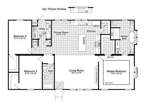 homestead floor plans the homestead ft32563c manufactured home floor plan