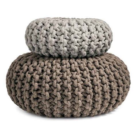 knitted poofs flocks pouf knitted seat table ottoman or purely