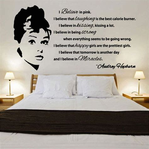 quotes wall sticker hepburn quote design 1 decal wall sticker cfq1