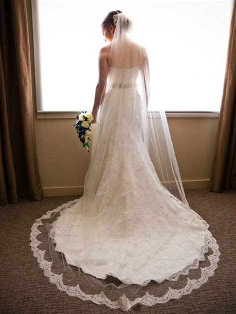 beaded cathedral veil ivory cathedral length lace veil beaded alencon