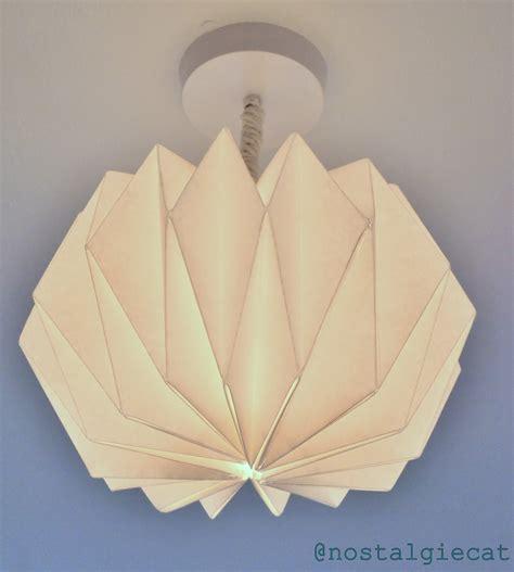 origami shade nostalgiecat diy origami paper lshade