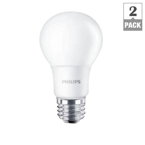 home depot led light bulbs philips 60w equivalent soft white a19 led light bulb 2