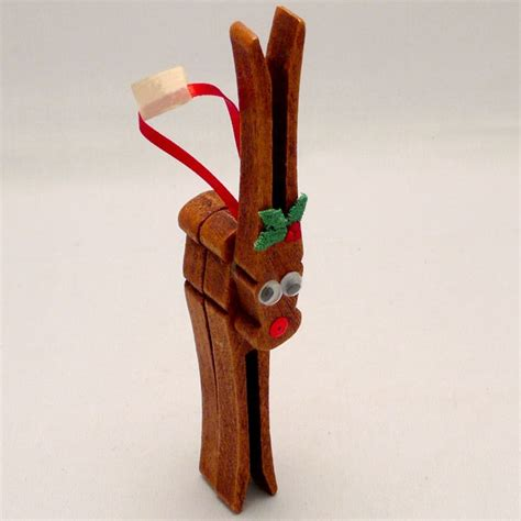 wooden clothespin crafts for classic reindeer clothespin ornaments