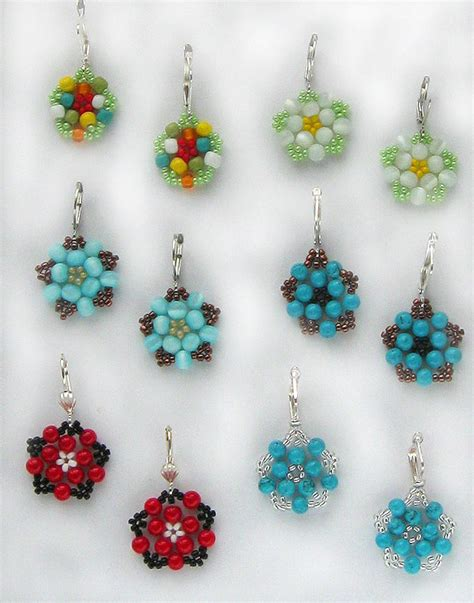 free beaded earring patterns free pattern for pretty beaded earrings floweret magic
