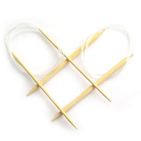 knitting two circular needles set of 18 bamboo circular knitting needles 2 10mm