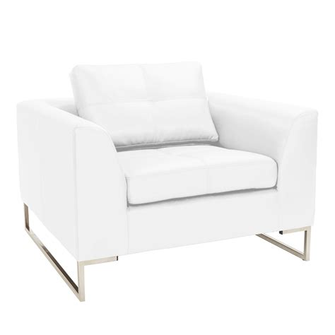 White Armchair by Vienna Leather Armchair White Dwell