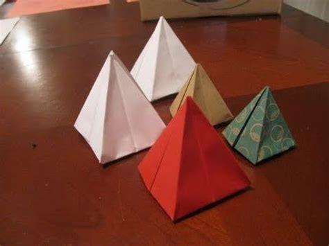 origami pyramid fold a 1 dollar pyramid by shafer funnycat tv