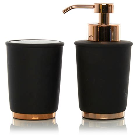 and black bathroom accessories george home black copper bathroom accessories