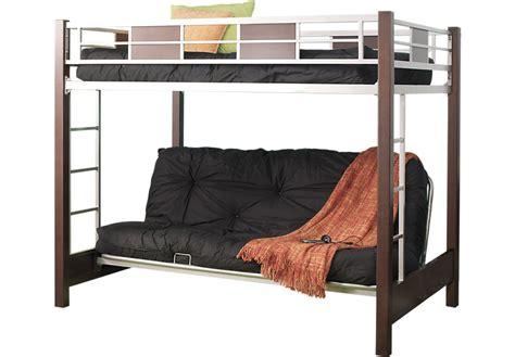to bunk bed league cherry 4 pc futon loft bed bunk loft