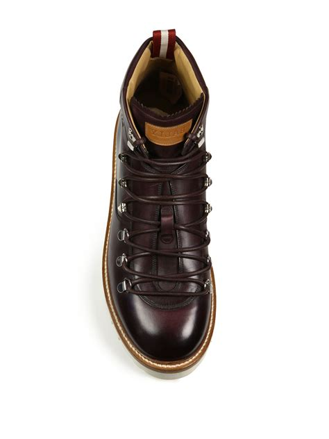 leather hiking boots s bally j cole for leather hiking boots in for lyst
