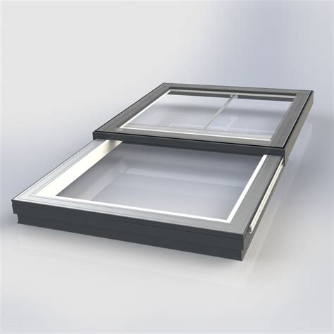 flat glass flat glass electrically sliding rooflight