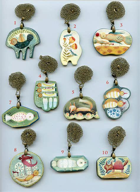 paper clay jewelry paper clay pendants by elsa mora imaginative bloom