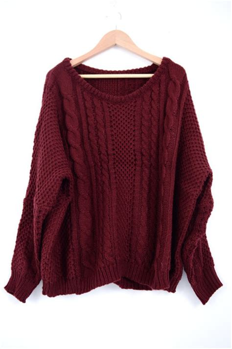maroon knit maroon cable knit sweater