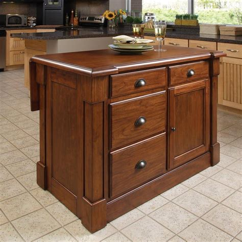 lowes kitchen islands shop home styles brown midcentury kitchen islands at lowes