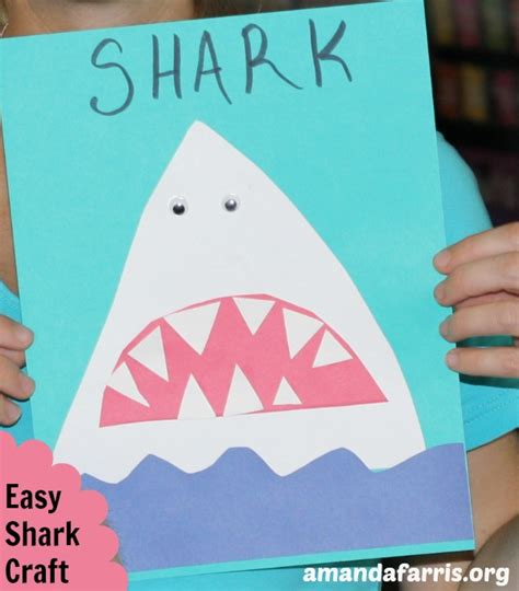 easy shark crafts for easy shark craft amanda farris