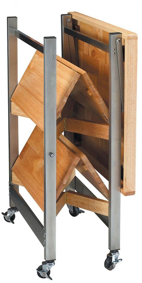 folding kitchen island cart all purpose folding kitchen cart folding island