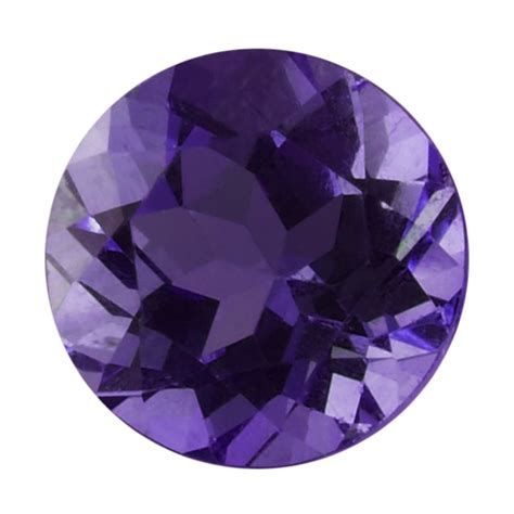 faceted gemstone royal amethyst 5mm faceted aaa grade