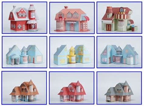 paper craft templates free 3d house paper model with calendar free papercraft